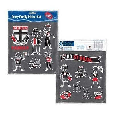 Official AFL St Kilda Saints Family Sticker Sheet Pack (14 Stickers)