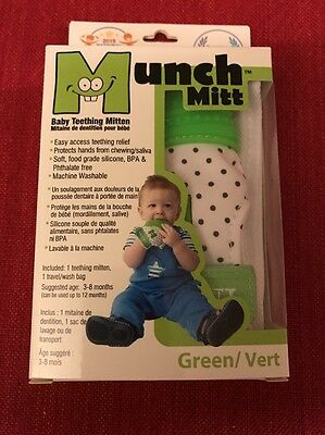 Malarkey Kids Munch Mitt Baby Teething Mitten - Green