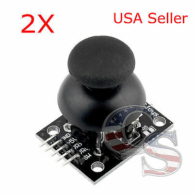 2X New JoyStick Breakout Module Shield PS2 Joystick Game Controller For Arduino