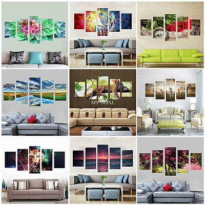 Unframed Canvas Prints Modern Home Decor Wall Art Picture Oil Painting Sky Horse