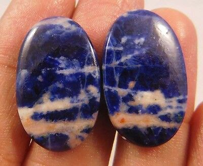 27.8 Cts Fabulous *Super* Mix Lot Of Superb Sodalite Pair Loose Gemstone
