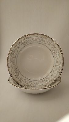 "Noritake Oxford 5767 Pair of 7 1/2"" Cereal / Soup Bowls"