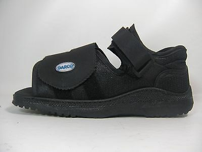 New Darco Square Toe Medical Surgical Post-Op Shoe All Sizes In Black