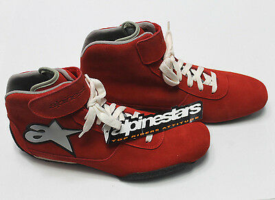 ALPINESTARS F1-K Kart Racing SHOES Mens High Top RED Karting Boots Race NEW