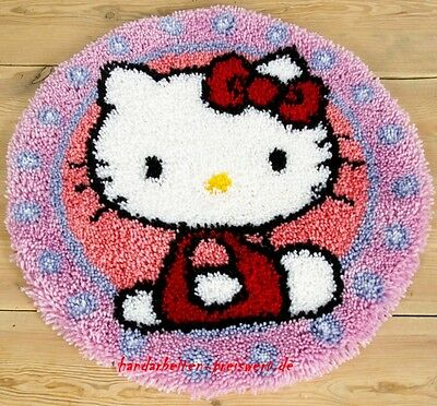 Vervaco Knotted Carpets Round carpet ca.55 cm Hello Kitty Children knot yourself