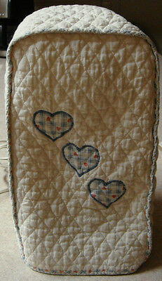 Quilt style small appliance cover blender hearts