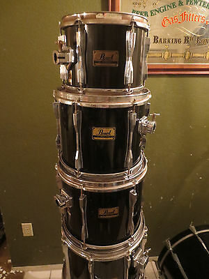 "Pearl BLX 6pc Birch 10+ 14 "" Toms Drums only"
