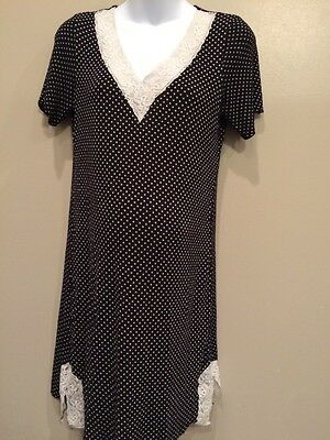 Cool Nights XS Maternity Nursing Nightgown With Lace