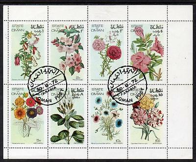 State of Oman MNH 1972 Flowers M/S
