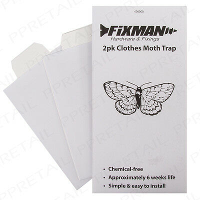 2Pc Moth Pheromone Trap STICKY SHEET Hanging Clothes/Bedsheets Pantry/Wardrobe