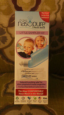 New Nasopure Nasal Wash Little Sampler Kit Natural & Soothing Relief Sinus Care