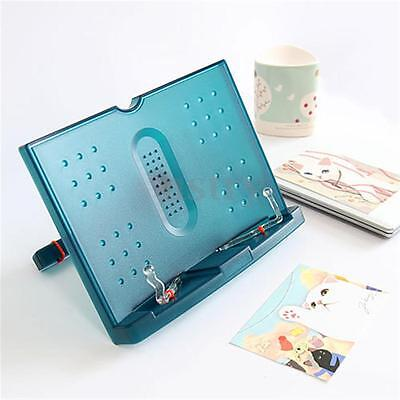 Portable Folding Music Cook Book Document Reading Desk Stand Holder Bookstand AU