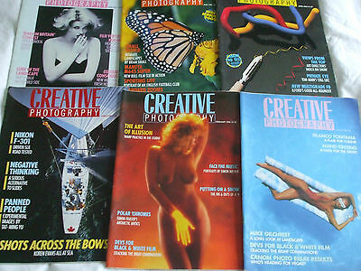 1986 CREATIVE PHOTOGRAPHY 6 Issues HAND TINTING LANDSCAPE HINTS NEWS