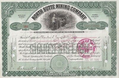 North Butte Mining Company....1919 Stock Certificate