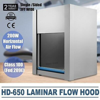 VEVOR HD-650 Vertical Laminar Flow Hood- 2Ft Clean Bench Workstation New
