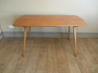 Vintage Retro Mid Century 1970 s Ercol Blonde Plank Top Dining Table