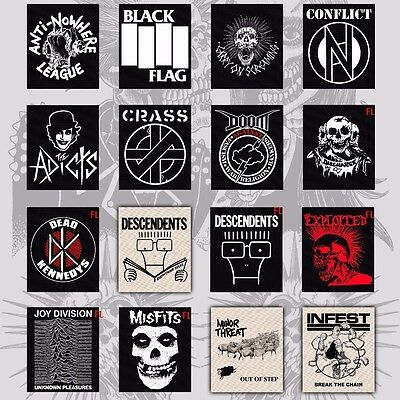 PUNK BACKPATCH exploited joy division discharge descendents cramps minor threat