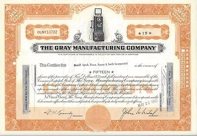 The Gray Manufacturing Company......1960 Stock Certificate