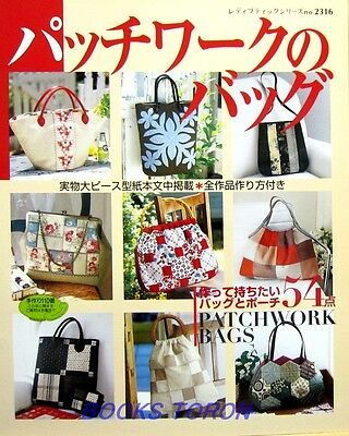 Patchwork Bags 54 items /Japanese Sewing Craft Pattern Book