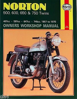 Norton 500 600 650 750 Twins Owners Workshop Manual 1957-70 Dominator Atlas *NEW