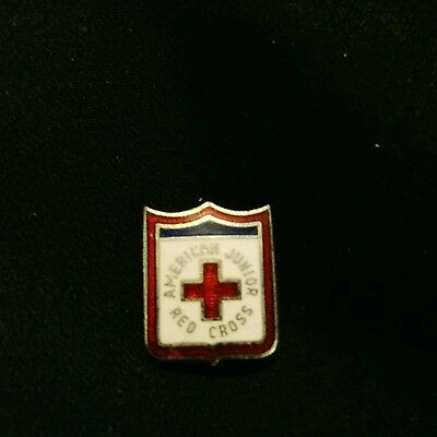 Stunning AMERICAN JUNIOR RED CROSS Vintage Lapel Pin Collectable Tie Tack