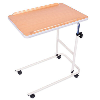 Viva Medi Beech Effect Over Bed Table with 4 Castors