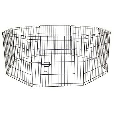 AVC Dog Puppy Cat Foldable Playpen Enclosure Indoor/Outdoor Cage (Small - 61cm)