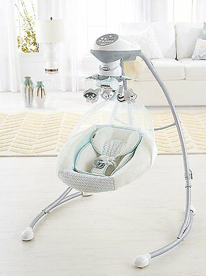 Fisher Price Deluxe Moonlight Meadow Raccoon Baby Swing With Plug in Option NEW