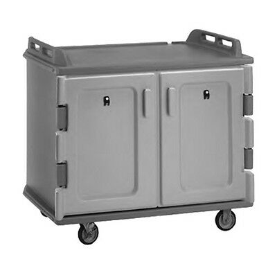 """Cambro MDC1418S20615 48-1/2"""" 2 Compartment Meal Delivery Cart (Charcoal Gray)"""