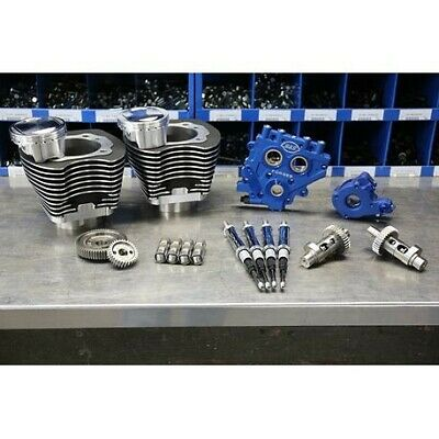 """S&S Cycle Winter Power Package 110"""" Black Big Bore Kit w/ 585 Gear Cams 07-17"""
