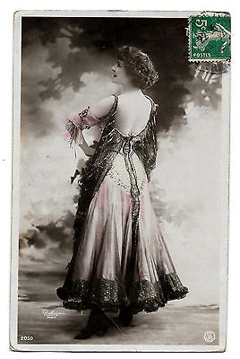 Cpa A97 Reutlinger Thilda Artiste Theatre Miss Sexy Robe Dos Nu Charme Elegance