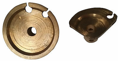 ukscooters LAMBRETTA GEAR AND THROTTLE WHEEL DRIVE BRASS NEW PAIR PULLEY