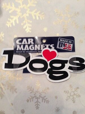 """""""love Dogs"""" Fridge Or Car Magnet    Made In Usa  Nwtgs"""