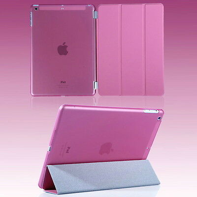 UK Smart Magnetic PU Leather Stand Cover Case for Apple iPad Air, Pink