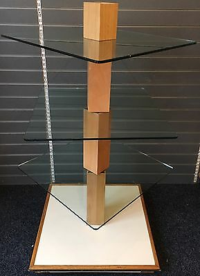 Retail Shop Glass Shelf Display Stand Exhibition Island Unit