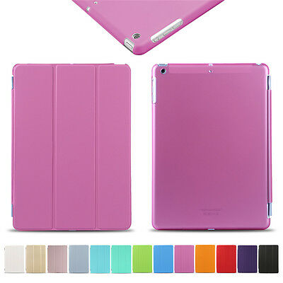 Pink Luxury Flip Leather Smart Magnetic Stand Cover Case for Apple iPad 5 Air