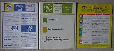 Vintage GE Automatic Clothes Washer Use & Care Book WWA7050 ~ FREE SHIPPING