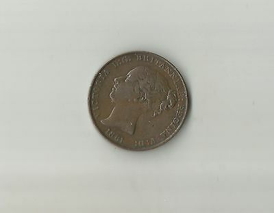 Jersey Bronze  1/13  Of A Shilling 1861.