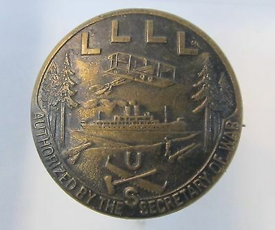 FOUR L Loyal Legion of Loggers & Lumberman BADGE Pin MILITARY union HOME FRONT