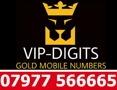 07977 566665 Vip Gold Easy Diamond Platinum Good O2 Mobile Phone Number Sim Card