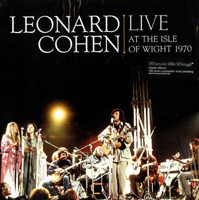 Leonard Cohen Live At Isle Of Wight 1970 Doppio Vinile Lp 180 Grammi !!