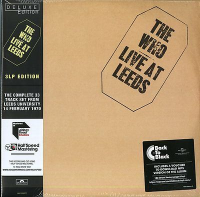 The Who Live At Leeds Triplo Vinile Lp 180 Grammi Nuovo Sigillato