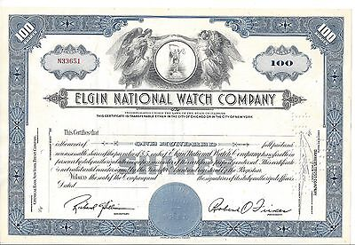Elgin National Watch Company......unissued Stock Certificate