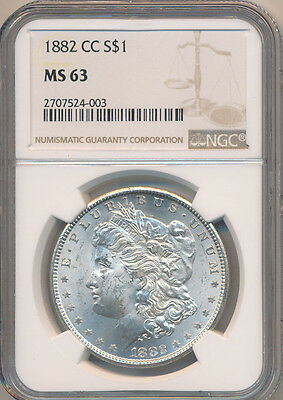 USA Carson City Silver Dollar 1882 CC - NGC MS 63