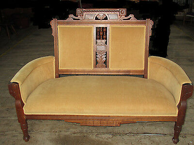Eastlake Antique Couch/Settee in Mustard