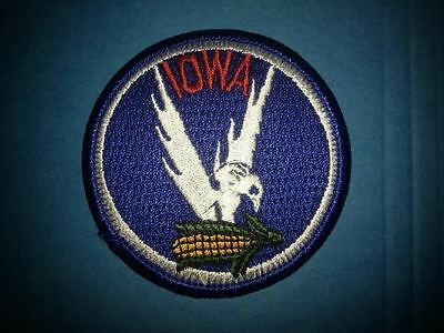 Vintage Iowa Collectable Souvenir Hat Jacket Backpack Hoodie Iron On Patch Crest