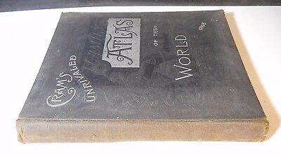 1898 Cram's Unrivaled Family Atlas Of The World Indexed