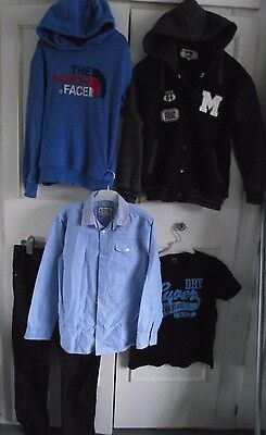 GREAT BOYS BUNDLE **J JEANS,NORTH FACE, SUPERDRY** jeans,hoody,t shirt age 11-12