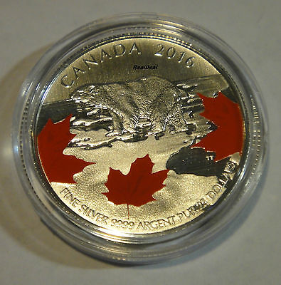 2016 Canada $25 for $25 The majestic polar bear - True North 99.99% pure silver