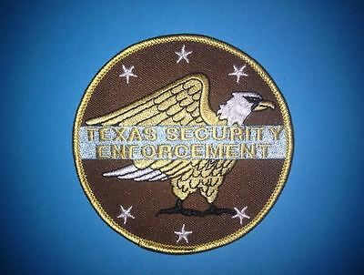 Vintage Texas Security Enforcement Guard Uniform Jacket Hipster Patch Cosplay